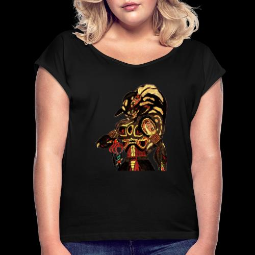 Prince of Bitches, Beastmaster Mun-Da Portrait - Women's Roll Cuff T-Shirt
