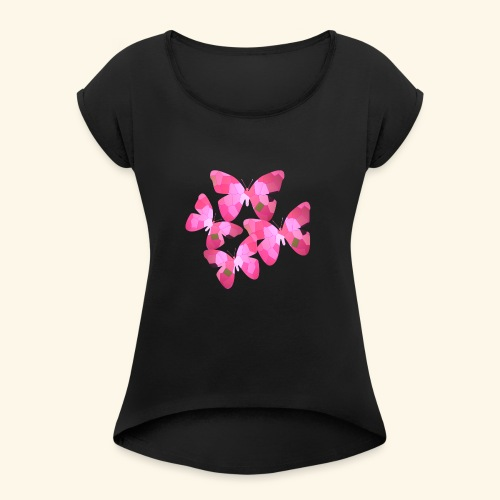 butterfly_effect - Women's Roll Cuff T-Shirt
