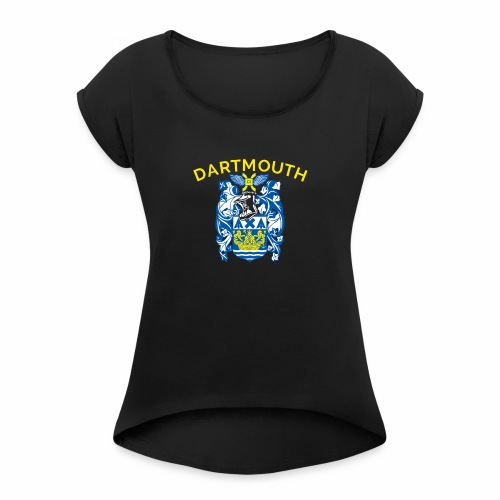 City of Dartmouth Coat of Arms - Women's Roll Cuff T-Shirt