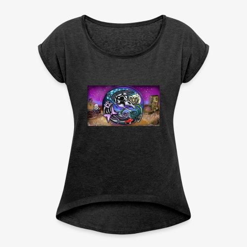 Mother CreepyPasta Land - Women's Roll Cuff T-Shirt