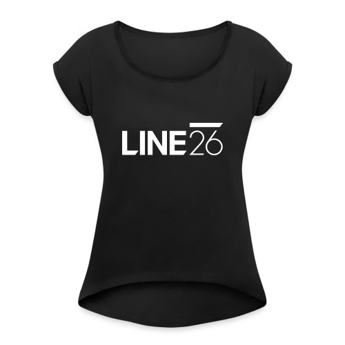 Line26 Logo (Light Version) - Women's Roll Cuff T-Shirt