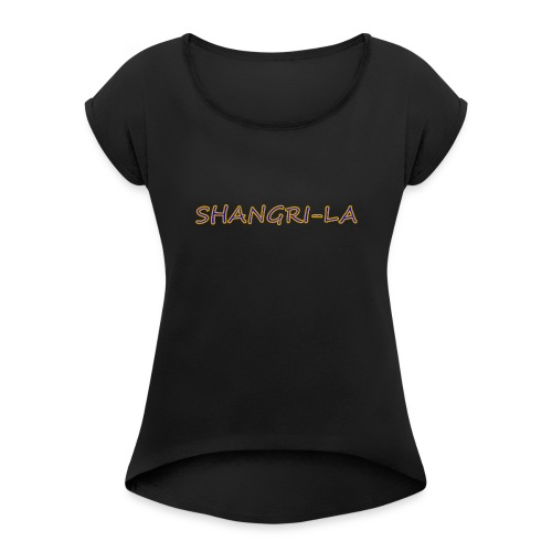 Shangri La gold blue - Women's Roll Cuff T-Shirt