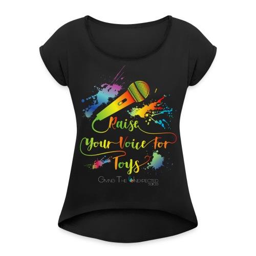 GTU Toy Drive Glow Shirt - Women's Roll Cuff T-Shirt