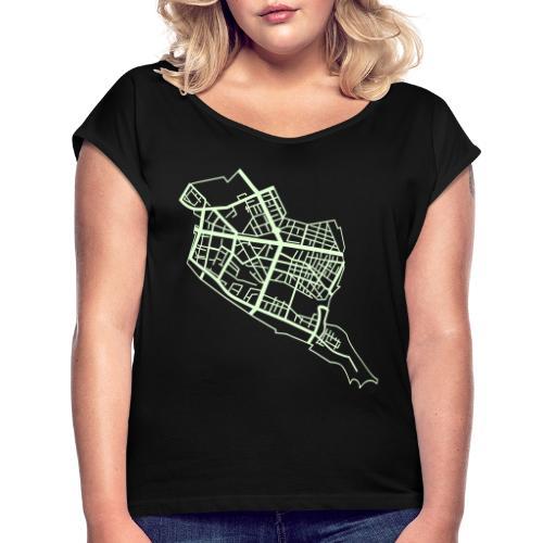 Friedrichshain Berlin - Women's Roll Cuff T-Shirt