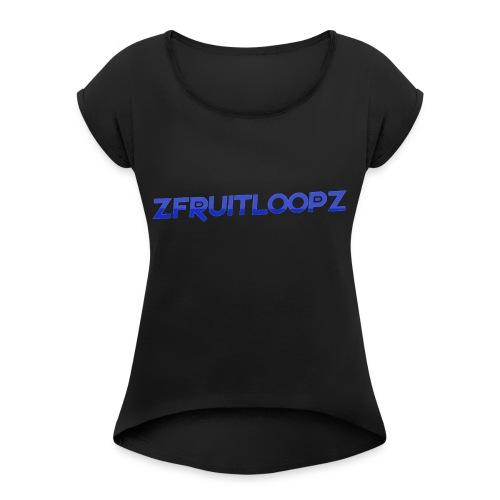 zFruitLoopz Orignal - Light Blue - Men - Women's Roll Cuff T-Shirt