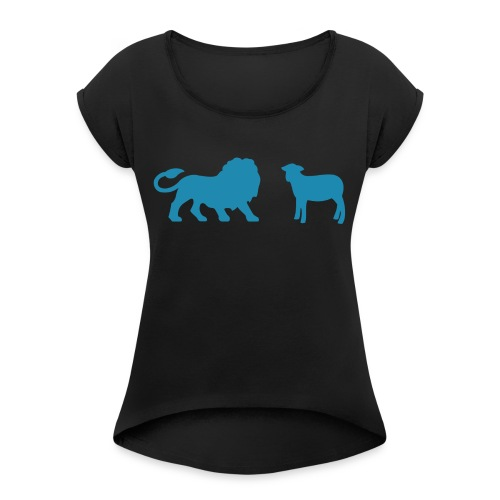 Lion and the Lamb - Women's Roll Cuff T-Shirt