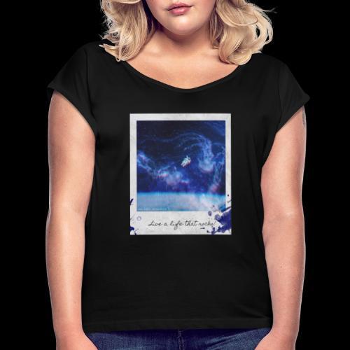 Polaroid Spaceman - Women's Roll Cuff T-Shirt