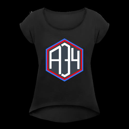 Adrian 34 LOGO - Women's Roll Cuff T-Shirt