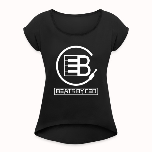 Beats By Ced Royal White - Women's Roll Cuff T-Shirt
