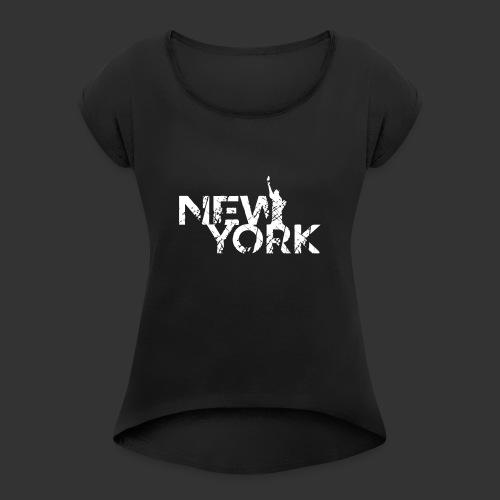 New York (Flexi Print) - Women's Roll Cuff T-Shirt