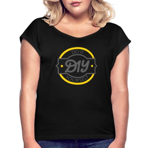 Do It Yourself | DIY | Minimal Badge-like Design - Women's Roll Cuff T-Shirt