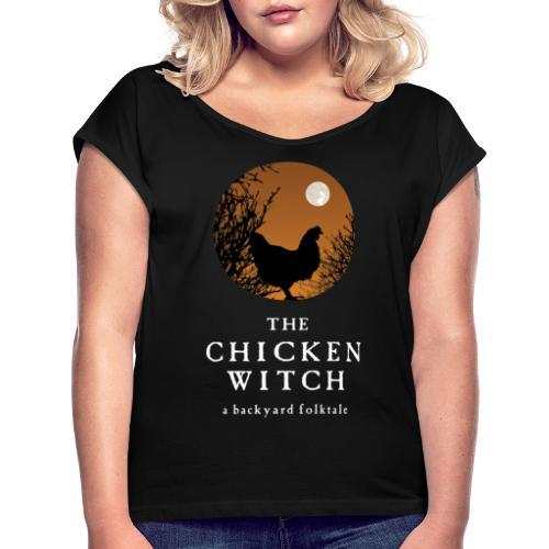 backyard folktale orange - Women's Roll Cuff T-Shirt