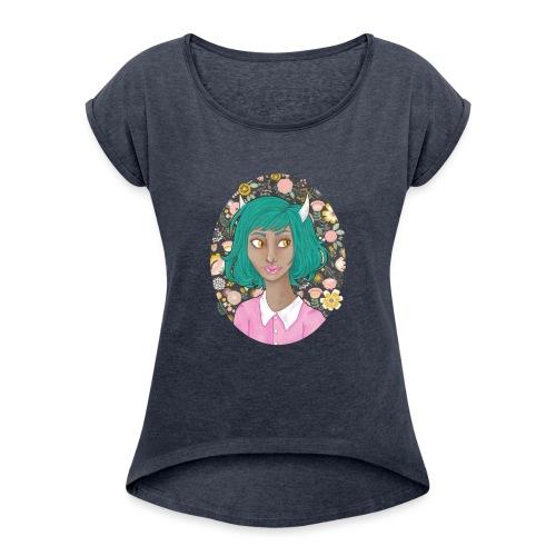 Fang - Women's Roll Cuff T-Shirt