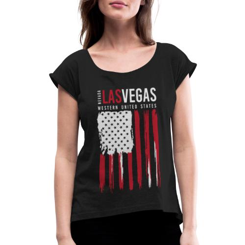 las vegas nevada usa - Women's Roll Cuff T-Shirt