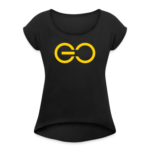GO logo big - Women's Roll Cuff T-Shirt