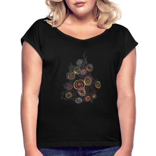 flower - Women's Roll Cuff T-Shirt