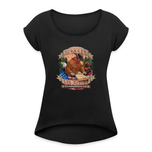 PLS-LOGO_2 - Women's Roll Cuff T-Shirt