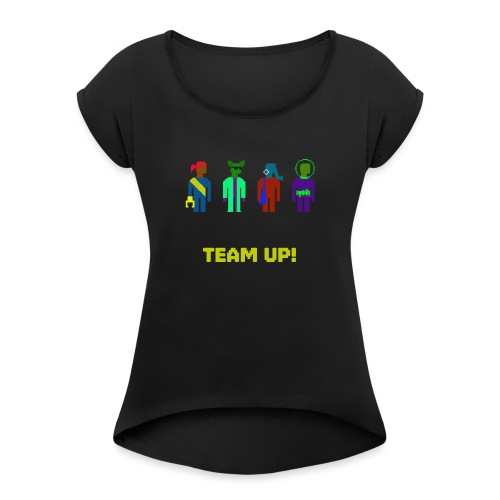 Spaceteam Team Up! - Women's Roll Cuff T-Shirt