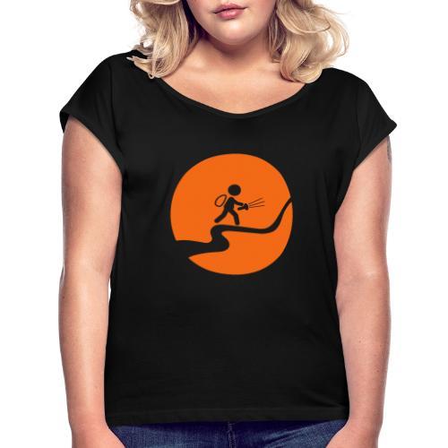 Nightcaching Guy - Women's Roll Cuff T-Shirt