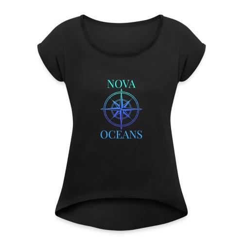 logo_nova_oceans - Women's Roll Cuff T-Shirt