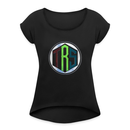 Three Ribbon Studios Crew - Women's Roll Cuff T-Shirt