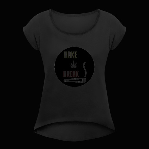 Bake Break Logo Cutout - Women's Roll Cuff T-Shirt