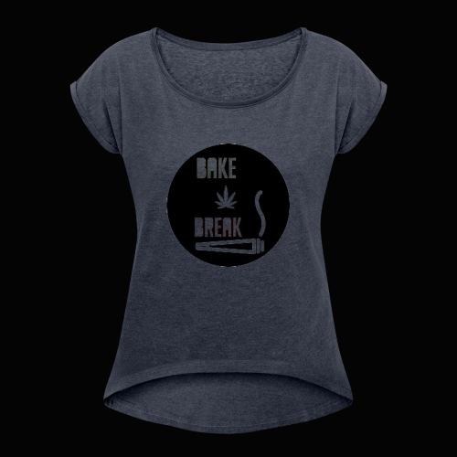Bake Break Logo Cutout - Women's Roll Cuff T-Shirt