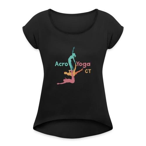 Aerial Yoga - Women's Roll Cuff T-Shirt