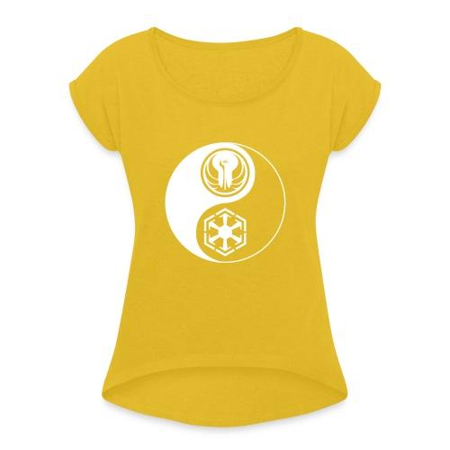 Star Wars SWTOR Yin Yang 1-Color Light - Women's Roll Cuff T-Shirt