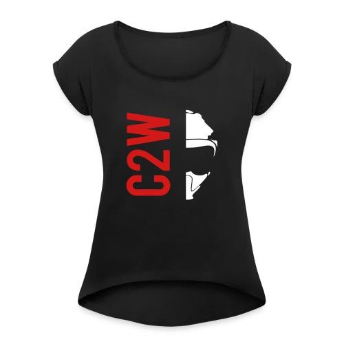 ChaseOnTwoWheels Split Logo - Women's Roll Cuff T-Shirt