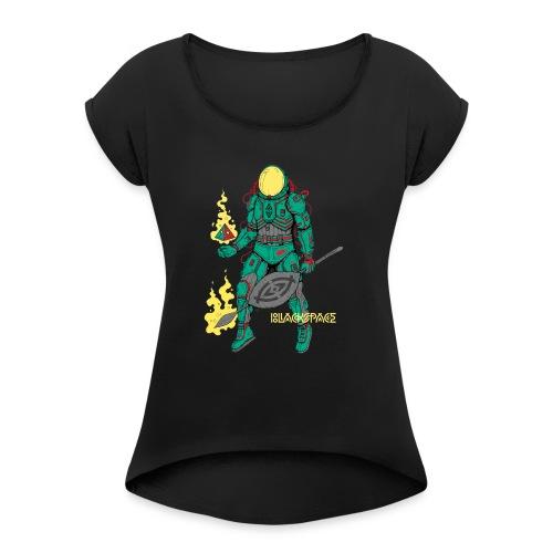 Afronaut - Women's Roll Cuff T-Shirt