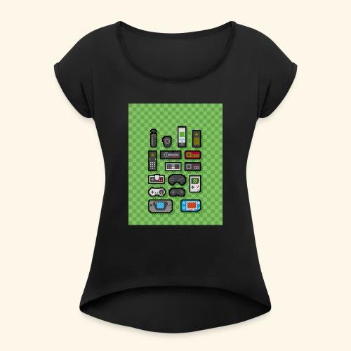 controller handy - Women's Roll Cuff T-Shirt