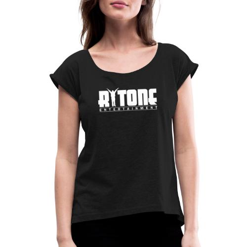 Rytone Logo White - Women's Roll Cuff T-Shirt