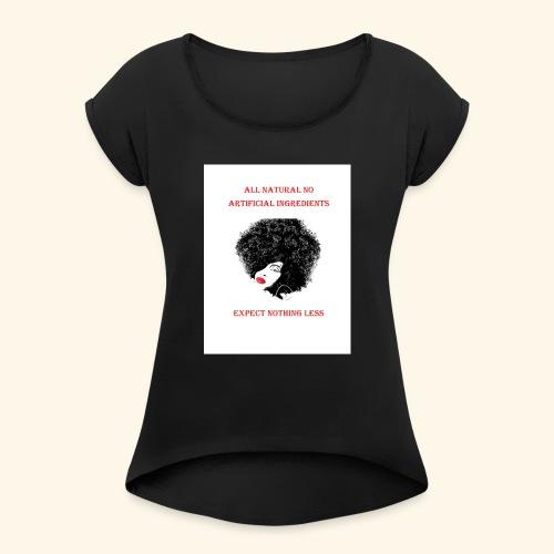Afro - Women's Roll Cuff T-Shirt