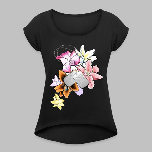 Flower - Women's Roll Cuff T-Shirt