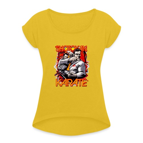 Shotokan Karate - Women's Roll Cuff T-Shirt