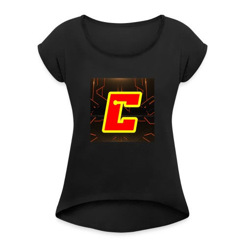 CameronGames99 Logo - Women's Roll Cuff T-Shirt