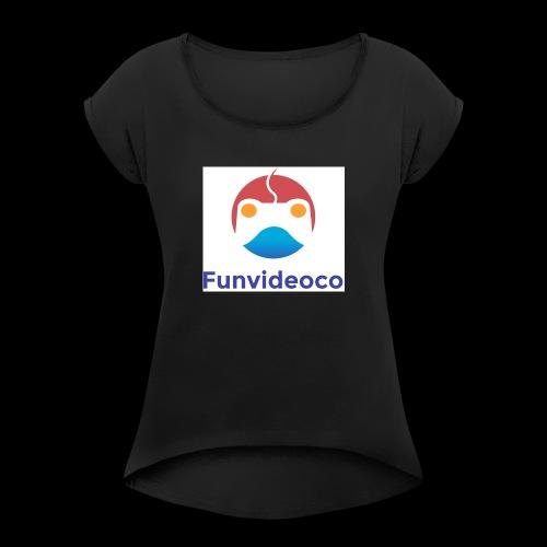 Fun Video Co logo - Women's Roll Cuff T-Shirt