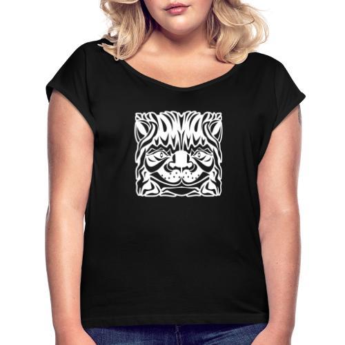 Cat's Head - Women's Roll Cuff T-Shirt