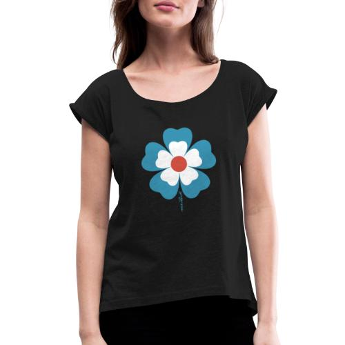 flower time - Women's Roll Cuff T-Shirt