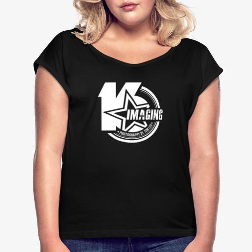 16IMAGING Badge White - Women's Roll Cuff T-Shirt