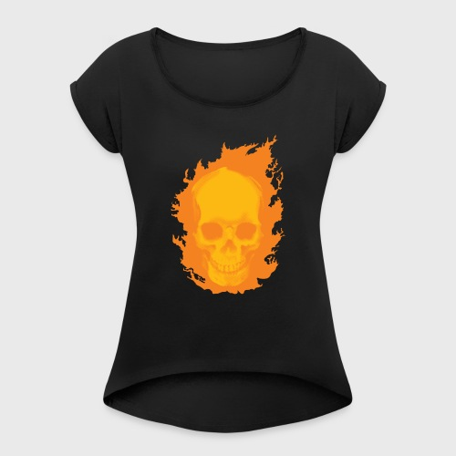 Ghost Rider - Women's Roll Cuff T-Shirt