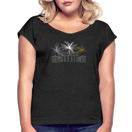 Brandenburg Gate Berlin - Women's Roll Cuff T-Shirt