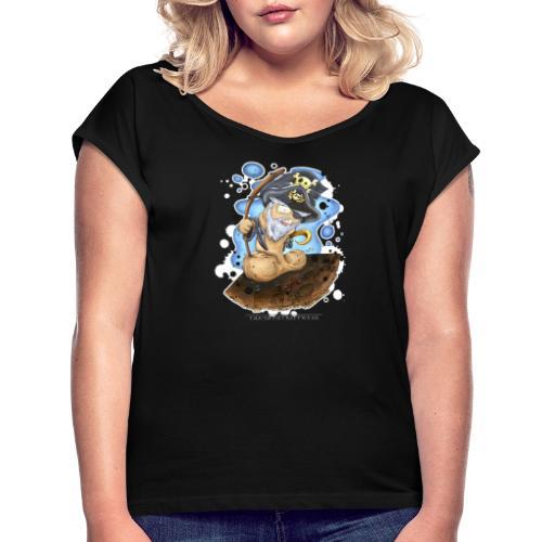 captain cock - Women's Roll Cuff T-Shirt