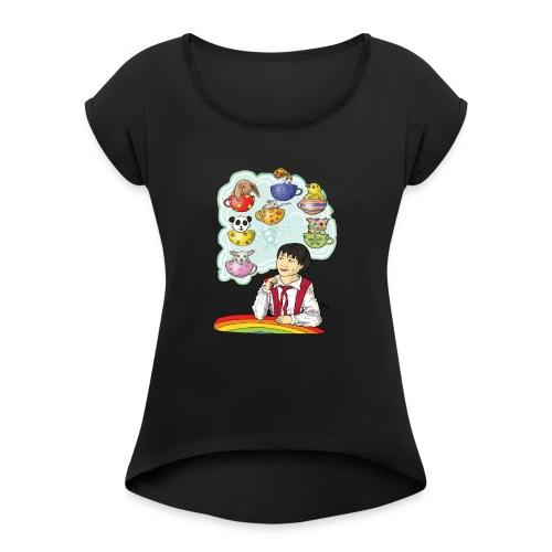 Dreaming of a Baby Pet - Women's Roll Cuff T-Shirt