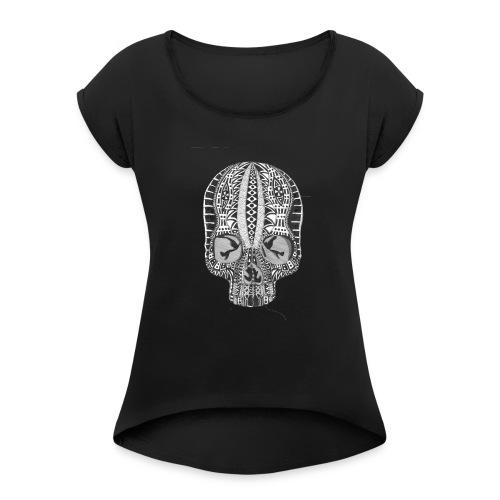 skull - Women's Roll Cuff T-Shirt