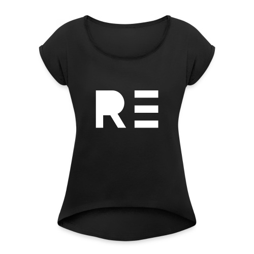 RE Logo - Women's Roll Cuff T-Shirt
