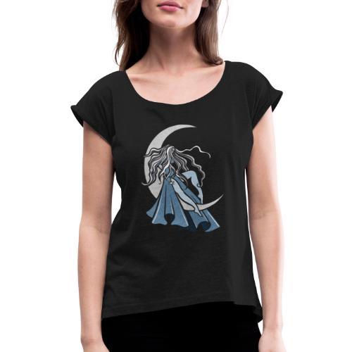 Moon Goddess - Women's Roll Cuff T-Shirt