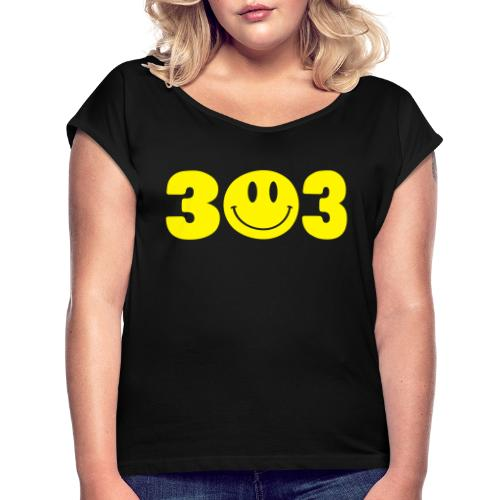 3 Smiley 3 - Women's Roll Cuff T-Shirt