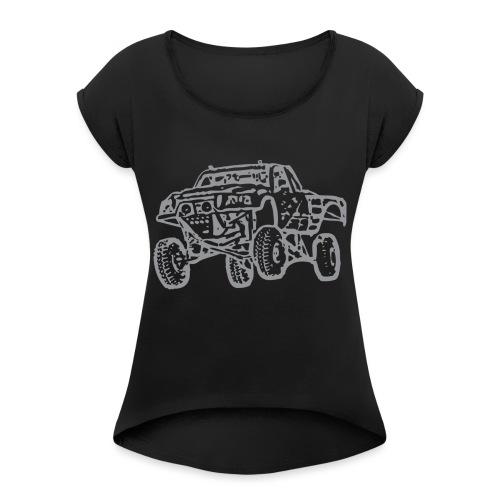 Jump Truck Grey - Women's Roll Cuff T-Shirt